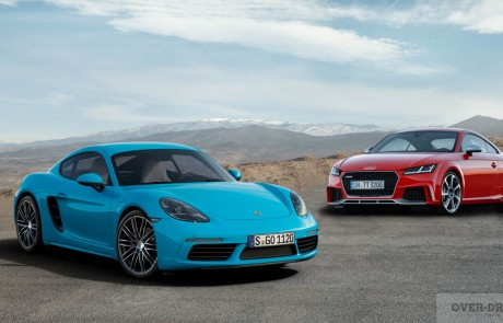 איזו ספורט-קופה-גרמנית היית בוחר: פורשה 718 קאימן או אודי TT-RS ?