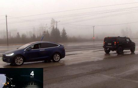 וידאו: טסלה מודל X מול האמר H2 – מי לוקח?