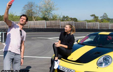 מריה שראפובה ומארק וובר נותנים גז בפורשה GT2 RS