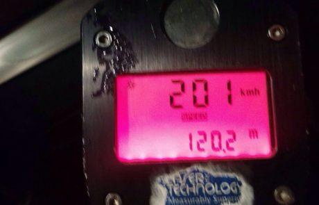 """משטרת התנועה: נתפס על 201 קמ""""ש וטען – """"לא יכול להיות שנהגתי במהירות כזו"""""""