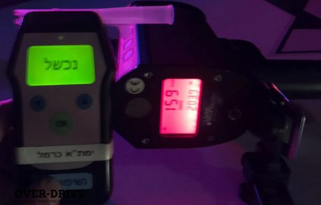 """נהג חדש (ומאוד שיכור) נעצר על 159 קמ""""ש לאחר ניסיון בריחה"""